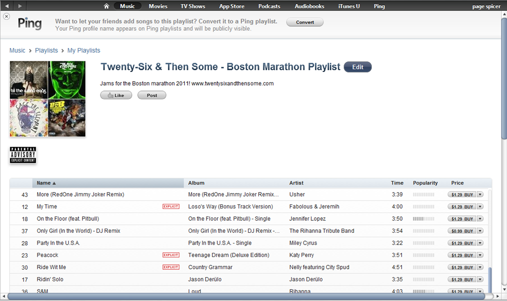 Boston Marathon 2011 Playlist   Twenty-Six and Then Some