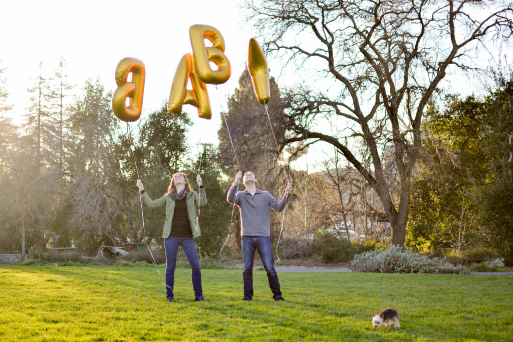 Baby Announcement Balloons Backwards Twenty-Six & Then Some